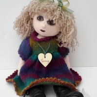 "16""Cloth Doll, Tammy, Collectable Artist Doll, Handmade by Bearlescent"