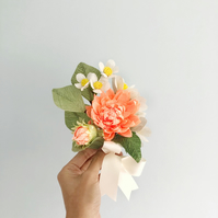 Small Coral Dahlia Bouquet