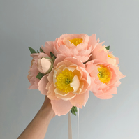 Blush Coral Peony Bouquet