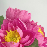Pink Paper Peony Bouquet