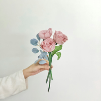 Paper Rose Posy