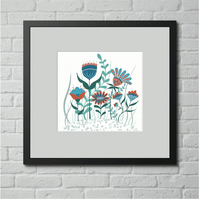 DIGITAL DOWNLOAD FLOWERS PRINT