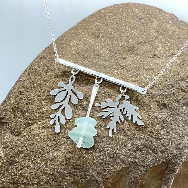 Silver and Seaglass Necklace