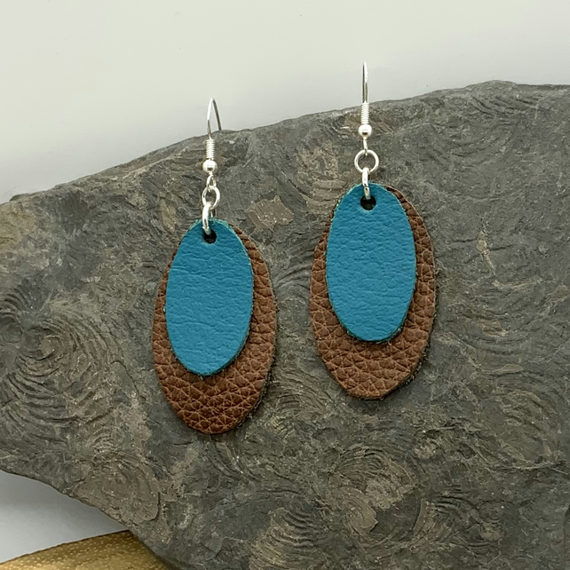 Up-cycled Leather Statement Earrings