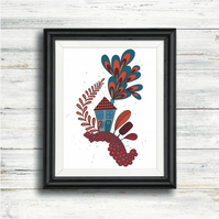 Limited Edition Art Print - Little House