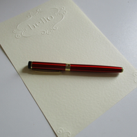 """Embossed """"HELLO"""" Writing Paper  with Kraft Envelopes - 15 Piece Set"""