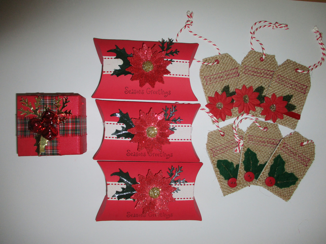 Christmas Gift Packaging Bundle - 10 Pieces - Gift boxes - Tags - Floral