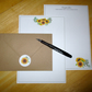 Sunflowers Writing Paper Set - 20 Pieces - Optional Personalisation - Stationery