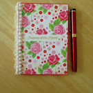 A6 Roses and Lace Notebook - Hardback - Decorated - Lined - Heart