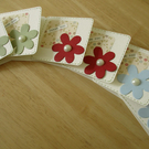 Mini Floral Thank you Cards x 6 - Blank Cards - Notecards