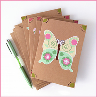Butterfly notelets – pack of 4 blank cards