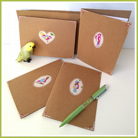 Four notecards with bird detail – blank for any greeting