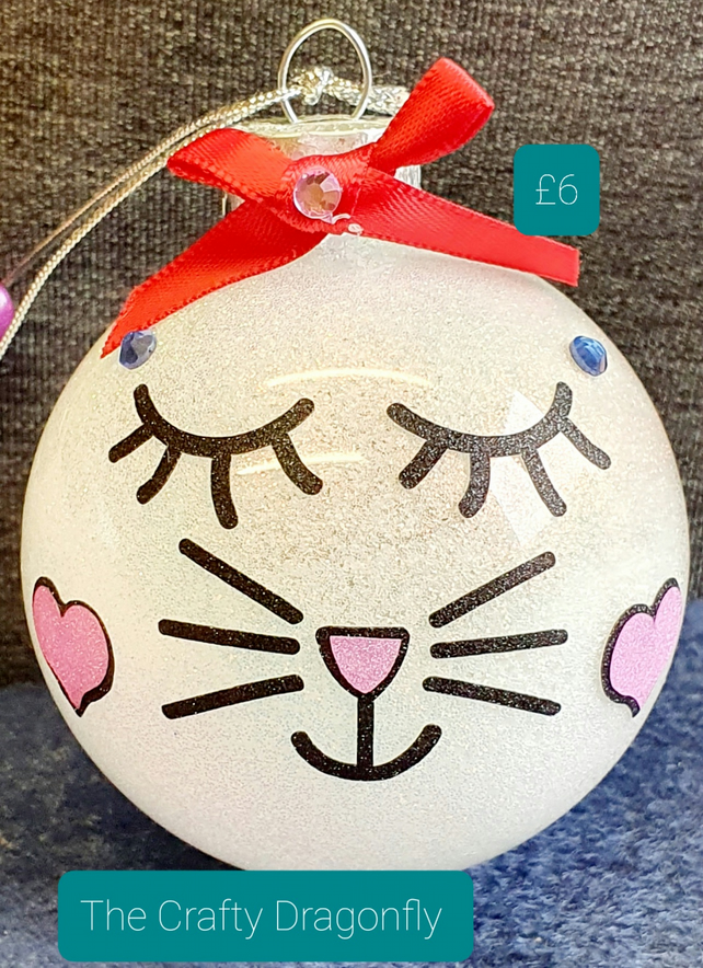 Cute Cat Face Bauble