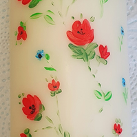 Hand Painted Pillar Candle