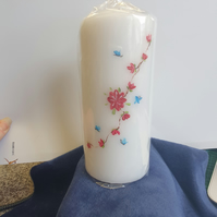 Handpainted Pillar Candle