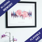 Personalised In Loving Memory Soundwave Art Print