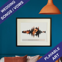 Personalised Wedding Song Vows Soundwave Art Print