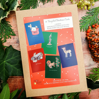 Festive Friends Box of 10 Christmas Cards