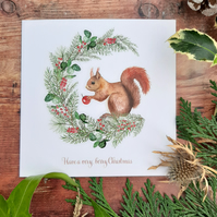 Have a very, berry Christmas Recycled Christmas Card