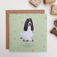 Cocker Spaniel Card
