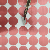 ROSE GOLD polka dots spots vinyl wall art stickers decals brushed metallic decor