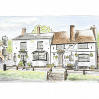 The Greyhound, Overton.  Open Edition Fine Art Print