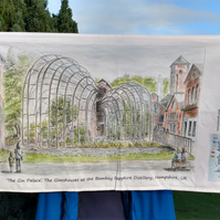 'The Gin Palace' at the Bombay Sapphire Distillery 100% Cotton Tea Towel