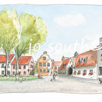 Am Stiftsplatz, Kaiserswerth., Germany - Limited Edition Art Print