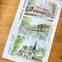 Whitchurch Scenes 100% Cotton Tea Towel