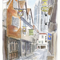 A Pint and Prayers! The City Arms, Canterbury - Limited Edition Art Print
