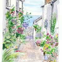 Clovelly, Devon - Limited Edition Art Print