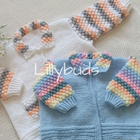Knitting Pattern for Summer Delights Cardigan. PDF, Printed. Baby pattern