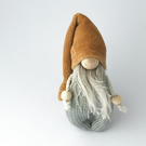 Rustic Gnome Nisse, Soft Textile Jewellery