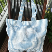 Beach bag 100% Linen Large size