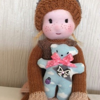 knitted doll - Gemima Ginger