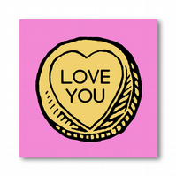 Love Heart Sweet Love You Card