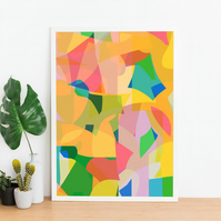 Contemporary Abstract Print, Geometric Print, Collage Print, Colourful Print