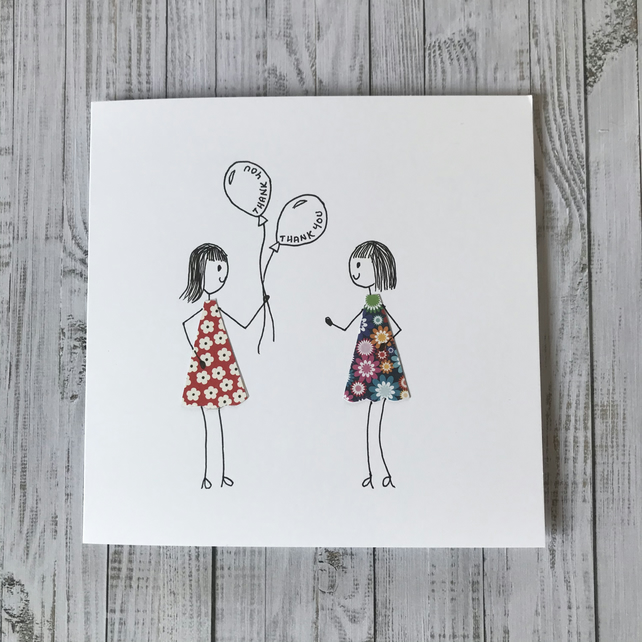 Personalised hand drawn Thank you card