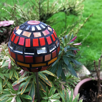 Mosaic Garden Ornament - Orange and Red