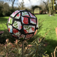 Mosaic Garden Ornament - Red,White and Green - Available now!