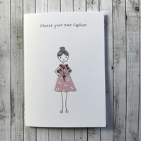 Personalised Thank you card, Birthday card