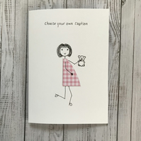 Personalised Pregnancy card