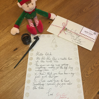 Personalised Letter From Santa - Handwritten Letter From Santa