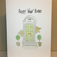 New Home Greetings Card, New Home Keepsake, Hand Painted Card, New House