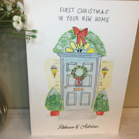 First Christmas In Your New Home, Personalised First Christmas In Your New Home