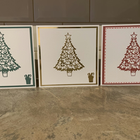 Christmas tree Christmas cards pack of 3