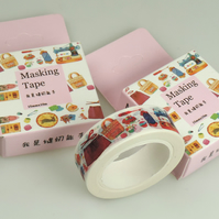 Craft Sewing pattern Washi Tape, Decorative Adhesive Tape, 10M, cards, journals