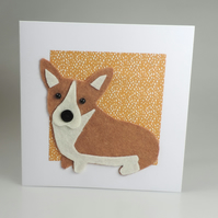 Corgi Dog Card, Blank inside, Birthday, Greeting, Universal gift card