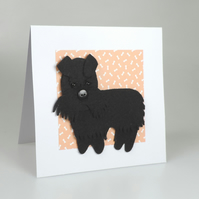 Schnauzer Dog Card, Blank inside, Birthday, Greeting, Universal card, Dog lover