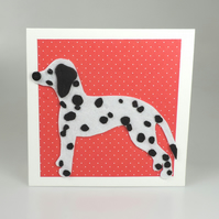 Dalmatian Dog Card, Blank inside, Birthday, Greeting, Universal card, Dog lover
